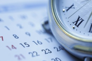 Scheduling Blue tone - Stock Image